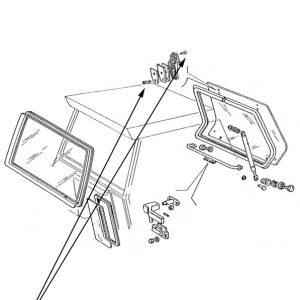 Vite fissaggio cerniera vetro New Holland cod 5131920