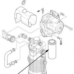 Filtro olio idraulico New Holland - cod 84324774