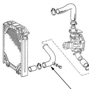 Tubo di raffreddamento radiatore New Holland - cod 5117300